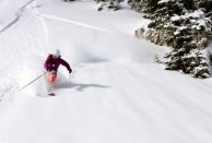 Briony Abraham skiing in Utah