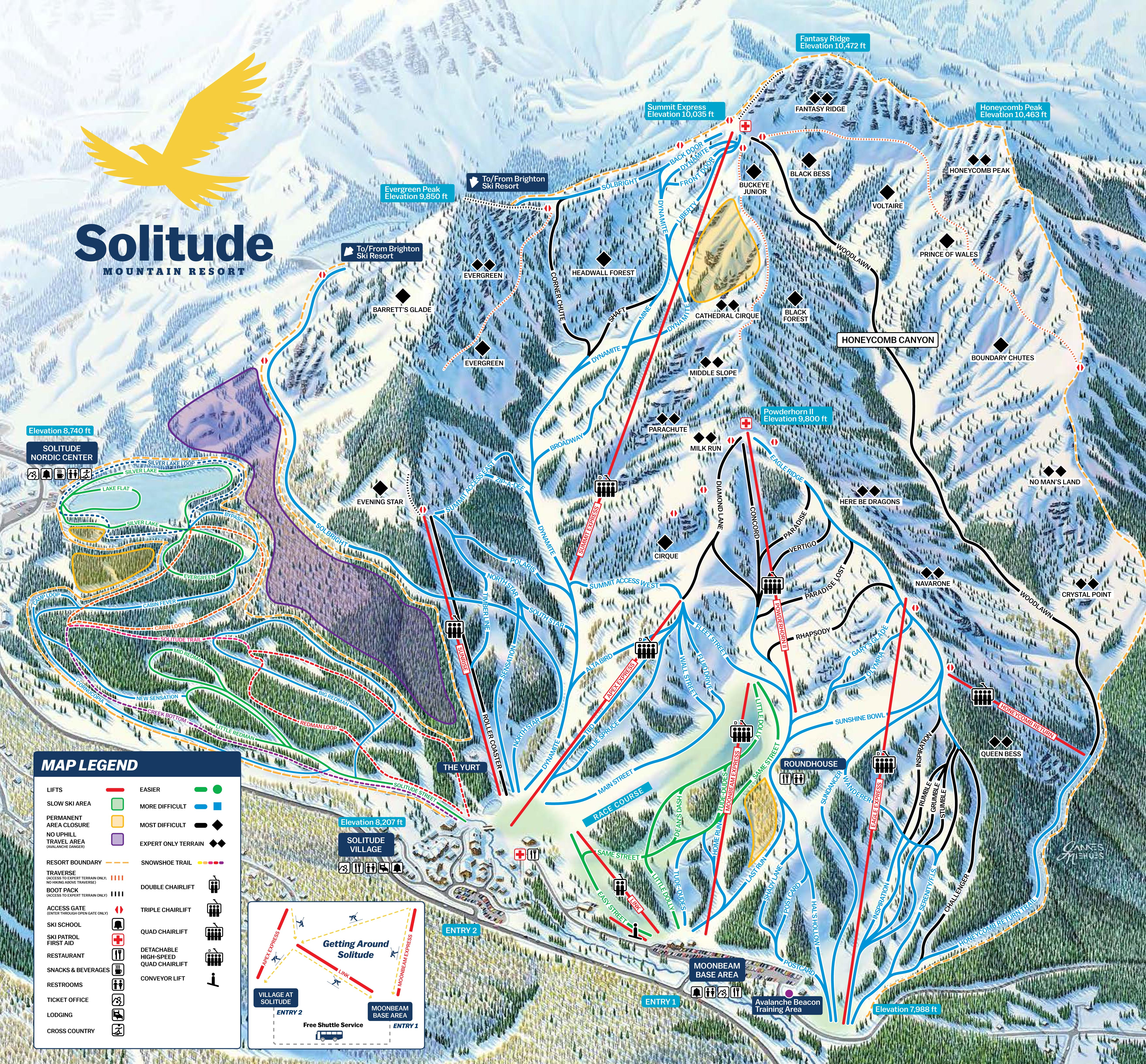 Solitude Trail Map 2016